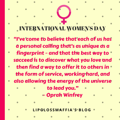 International Women's Day LIPGLOSSMAFFIA'S BLOG 2