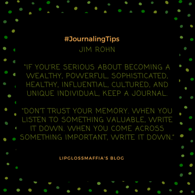 the art of journaling #lipglossmaffia 10