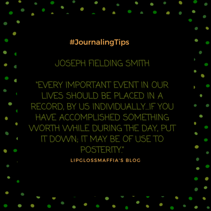 the art of journaling #lipglossmaffia 6