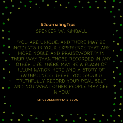 the art of journaling #lipglossmaffia 9
